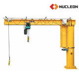 Nucléon pilier Jib grue pivotante avec palan à chaîne de contrôle de la poignée de commande