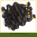 Chinês ondulado natural de cabelo humano Virgem Remy de cabelo humano Virgem Cabelo (ZYWEFT-170)