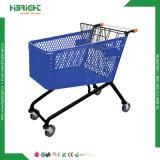 Supermarché 180L chariot panier de magasinage en plastique