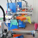 Печатная машина шелковой ширмы ярлыка бирки тенниски 2 цветов быстро плоская