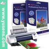 la double matte 220GSM dégrossit papier de photo de jet d'encre avec le papier de texture de grain