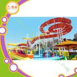 Большой парк воды стеклоткани сползает игру воды спортивной площадки воды малышей