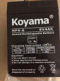 Bateria AGM de 6V 4ah com ácido de chumbo para lanterna, brinquedo