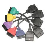 voor Vijf Kabels Geelgroene Rode Purpere Blauwe klimop-Autodiagtech van Multiecuscan Fiatecuscan van het Aftasten van ECU van FIAT