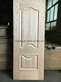 Piel de madera natural de la puerta de la chapa/moldeado presionando la piel de la puerta