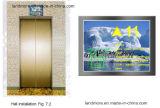 "12.1 dos "" indicadores do LCD do elevador da CPI multimédios que anunciam o indicador"