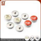 Botón redondo de encargo del metal del broche de presión del individuo de Monocolor para los bolsos