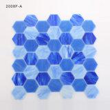 Azulejos Piscina Playa color hexagonal de chorro de agua Mosaico de cristal