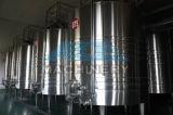セリウムのApprovelのホーム醸造物の冷却のジャケットが付いているワインによって冷却されるステンレス鋼の黒のニンニク円錐ビール発酵槽タンク