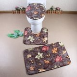 목욕탕 디자인 3개 피스 놓이는 산호 양털 목욕 양탄자