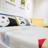 A manufatura de China imprimiu o fundamento da tampa do Quilt da folha do algodão