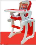 Playtable 변환 공급 의자를 가진 어린이 식사용 의자