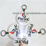 Выдвиженческий PVC Keychain подарков СИД, пластмасса Keychain СИД