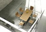 Мебель из тикового дерева Стол обеденный зал открытый дворик с рамой из нержавеющей стали