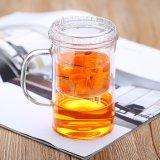Tazza di tè di vetro di Pyrex con la tazza di vetro del tè della tazza del tè di Infuser