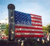 Advertizing su ordine Helium Balloons, Inflatable Helium Flag Balloon per gli S.U.A.