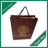 Золотистый мешок подарка бумаги логоса в Китае