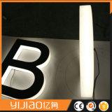3D経路識別文字のステンレス鋼LEDのハローによってバックライトを当てられる印L