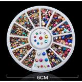 Het Bergkristal van de Decoratie van de Kunst van de spijker in Kleur 12 voor de Toebehoren van de Spijker voor Decoratie Hinestones