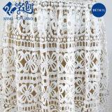 Weiß Aushöhlendes-heraus reizvolle V-Stutzen dünne Form-langes Kleid