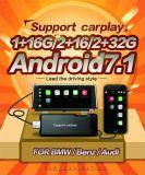 """7 """" reproductores de DVD del coche de Carplay para la navegación de radio antideslumbrante Digital TV de Audi A1 que invierte Bluetooth de visión SD/USB aux."""