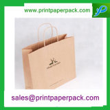 Bespoke Shopping Party Paper Présent Wedding Favors Package Handle Kraft Paper Bag