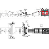 Jinlun 4 Fuß Furnierholz-Produktions-automatischer Zeilen-