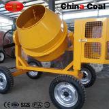 4 Ruedas Horizontal portátil máquina mezcladora de concreto
