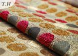 Tissu de sofa de jacquard de Chenille avec les points mignons colorés (FTH31024)