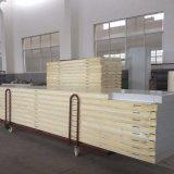 Los materiales de construcción de acero de pared de poliuretano de color compuesto de paneles sándwich