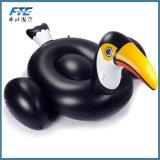 Adultos negro Animal inflable de flotación de la piscina el paseo en la playa Toy