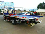최신 판매 Isuzu 130HP 평상형 트레일러 견인 트럭 /4X2 구조차 트럭