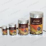 Алюминиевый контейнер специи кухни с покрытием качества еды внутренним (золотистый и прозрачный цвет)