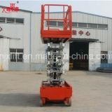300kg de capacidad de carga bajo precio elevador de tijera hidráulico Genie desde China fabricantes