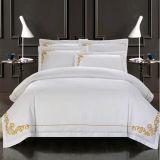 De calidad superior 250TC 100% algodón rey Tamaño de la hoja de la cama fijó para el Hotel