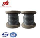 Corda galvanizzata 6X7+FC/Sc del filo di acciaio del cavo in piccola bobina di plastica