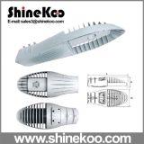 80W Middle Shark Fin는 LED Streetlight Housing를 정지한다 Casting