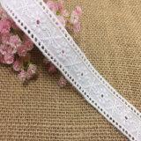 Neuer Entwurfs-bilaterale rosafarbene Stickerei-Baumwollspitze für Clothes der Dame