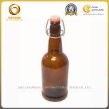De amber Flessen van het Bier van het Glas van de Kleur Gedrongen 16oz (1218)