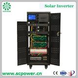 Inverseur solaire de la vente 60kVA de relation étroite multifonctionnelle chaude de réseau avec l'affichage à cristaux liquides