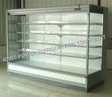 청과를 위한 냉장된 열려있는 수직 Multideck 전시 진열장 냉장고