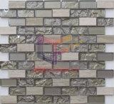 Il mattone riveste il marmo ed il mosaico Mixed di vetro (CFS698)