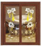 معدنة [ألومينوم لّوي] لوح [سليد دوور] مع فنية زجاج