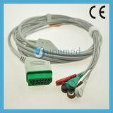 Cable de Nihon Kohden ECG con los Leadwires