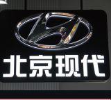 Vide procurable de première qualité de feuille de forme ronde moulant les signes acryliques de logo de véhicule