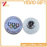 Contactos promocionales de la solapa del metal con insignia