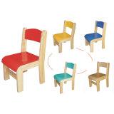 Cadeira de madeira para crianças com certificado En1729-1 e En1729-2 aprovado (madeira maciça 80515-80517)