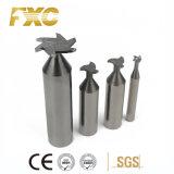 Fxc 6 flautas SUS carboneto sólido T-Slot Cortadores de moagem