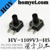 Interruptor de tato DIP de alta qualidade com botão lateral de 4,5 * 4,5 mm 2 pinos (HY-1109V)