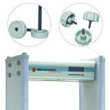 18 zonas Alarma audible visual Puerta del detector de metales con fuente de alimentación ancha